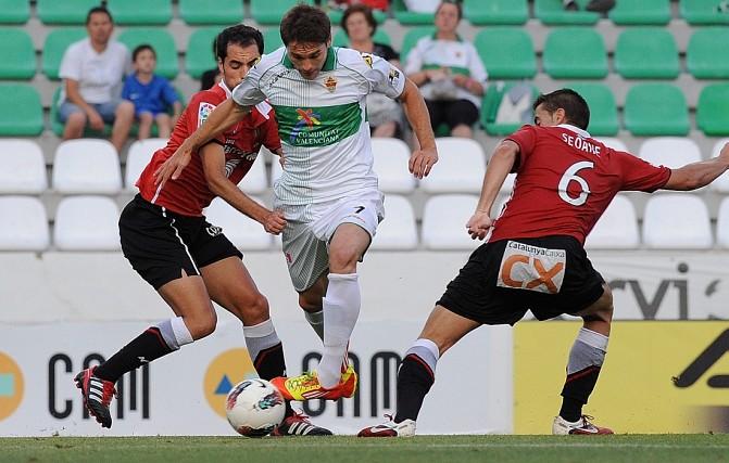 Imatge de l'últim partit del Nàstic a Segona A contra l'Elx (Foto cedida)