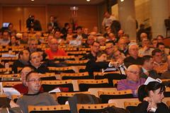 Un centenar d'accionistes van participar a la junta de la SAE del Nàstic