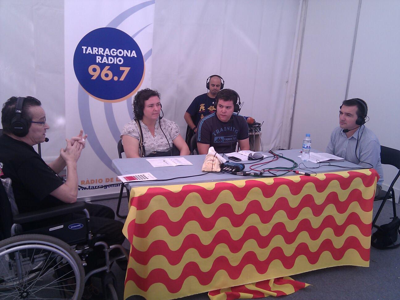 Entrevista de Tarragona Ràdio a Jaume Guasch, a l'estand de les festes el 20 de setembre de 2011