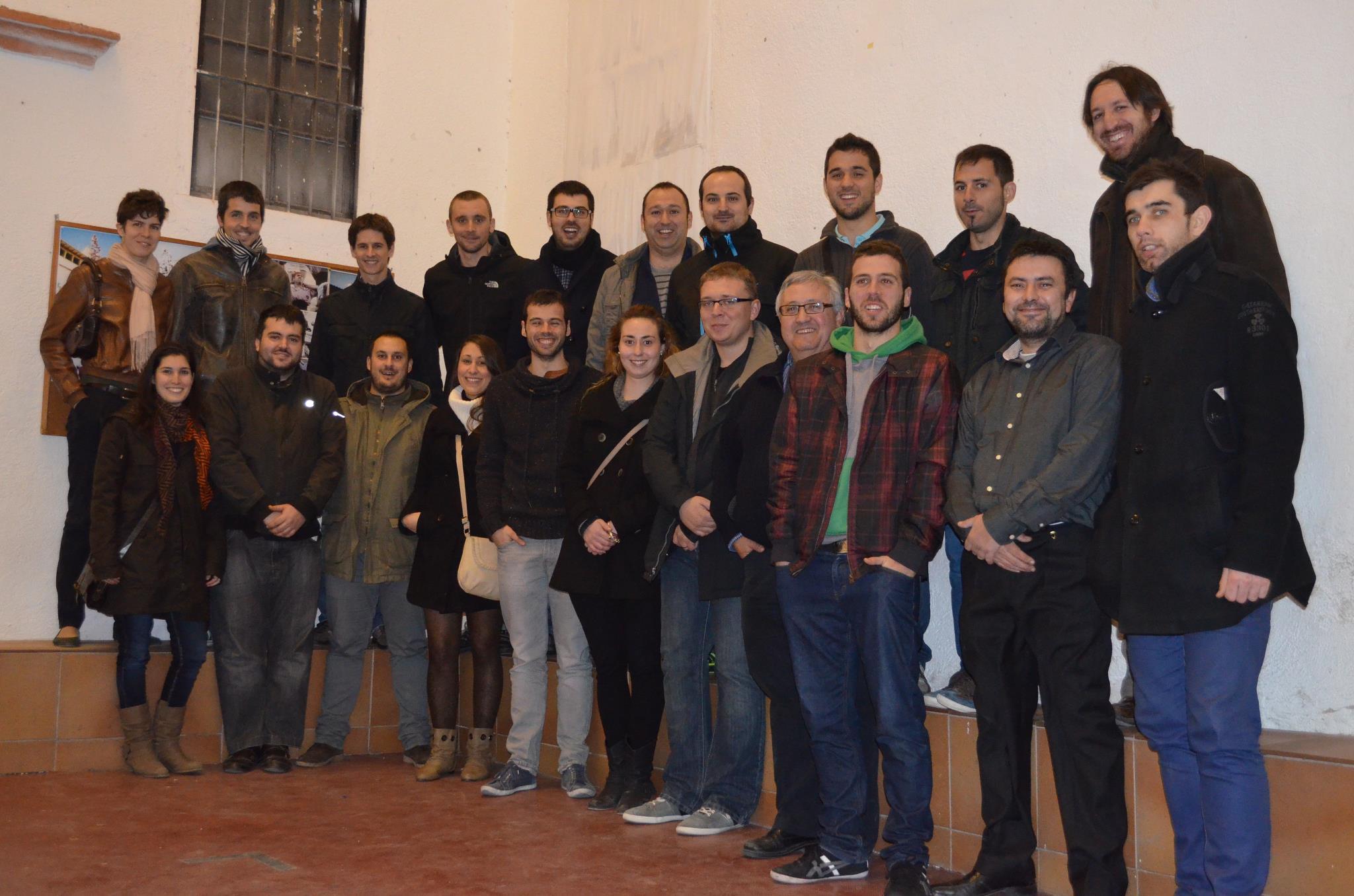 Imatge d'Enric Sertijol, nou president dels Xiquets, i tota la junta de la colla (foto: Xiquets de Tarragona)