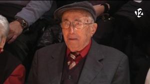 Leandre Seún a l'acte del seu centenari al teatre El Magatzem (foto: TAC12)