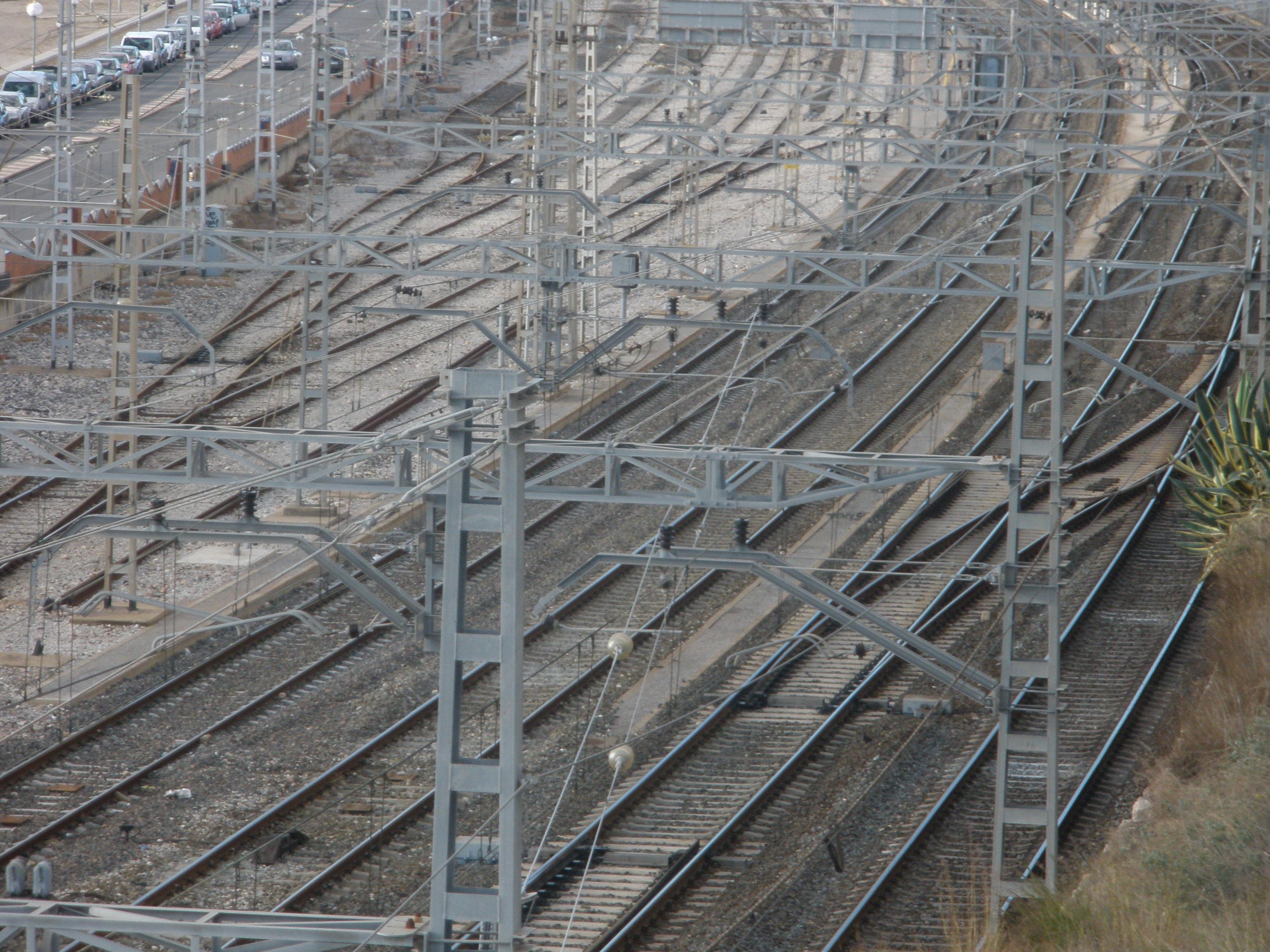 Un dels passos elevats que demana l'ajuntament aniria en aquest punt, al costat de l'estació actual d'ADIF
