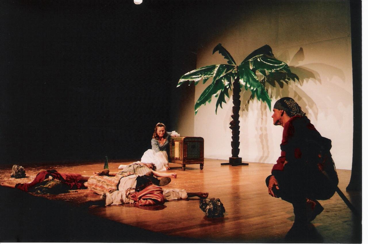 """Representació de """"Blanca Rosa, sirena de la mar blava"""", l'any 1994, pel grup Vis de Vanadi."""