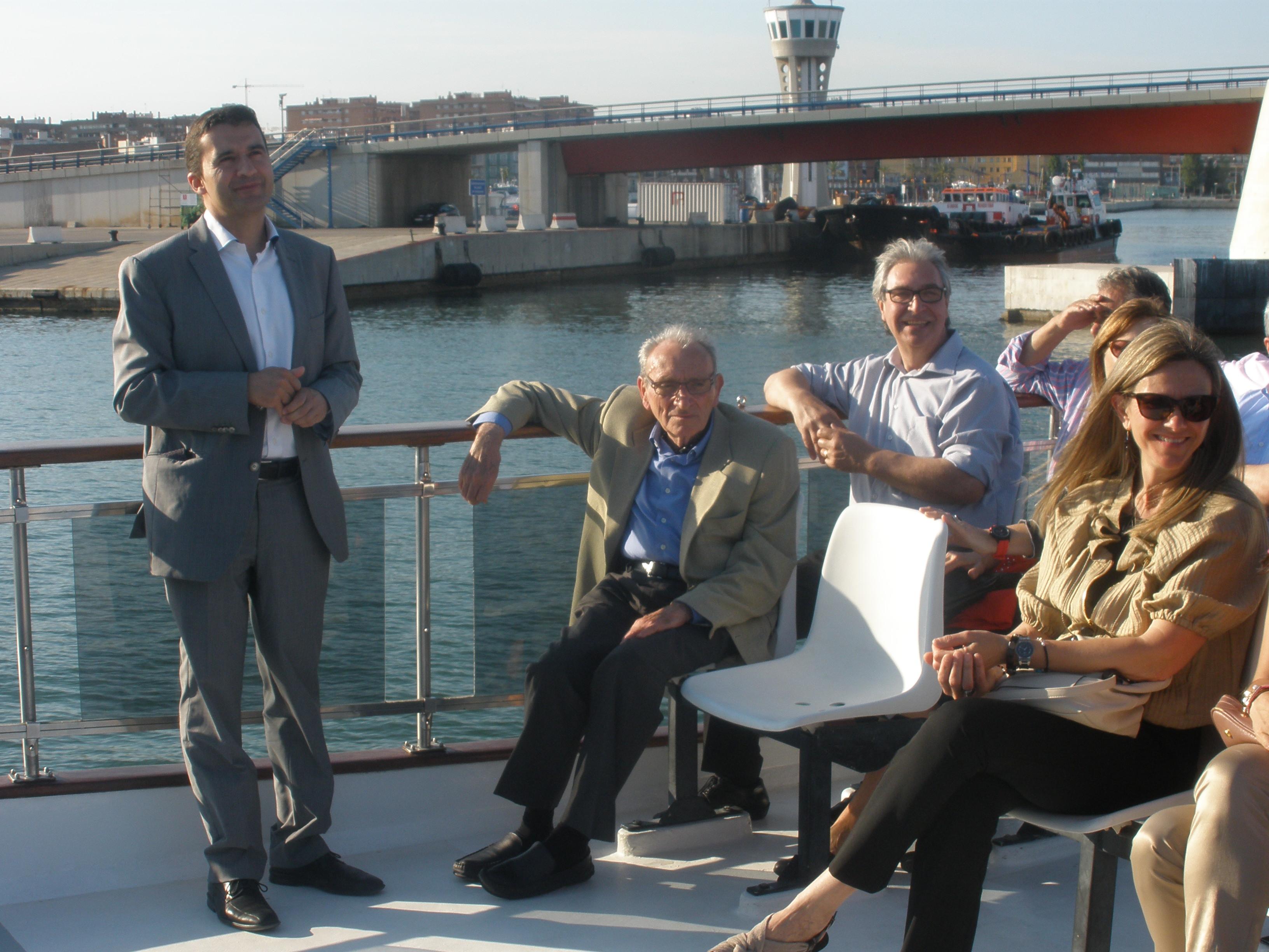 Garcia Girona amb alguns membres del Consell Cívic Consultor de BASF, en el seu acte de comiat