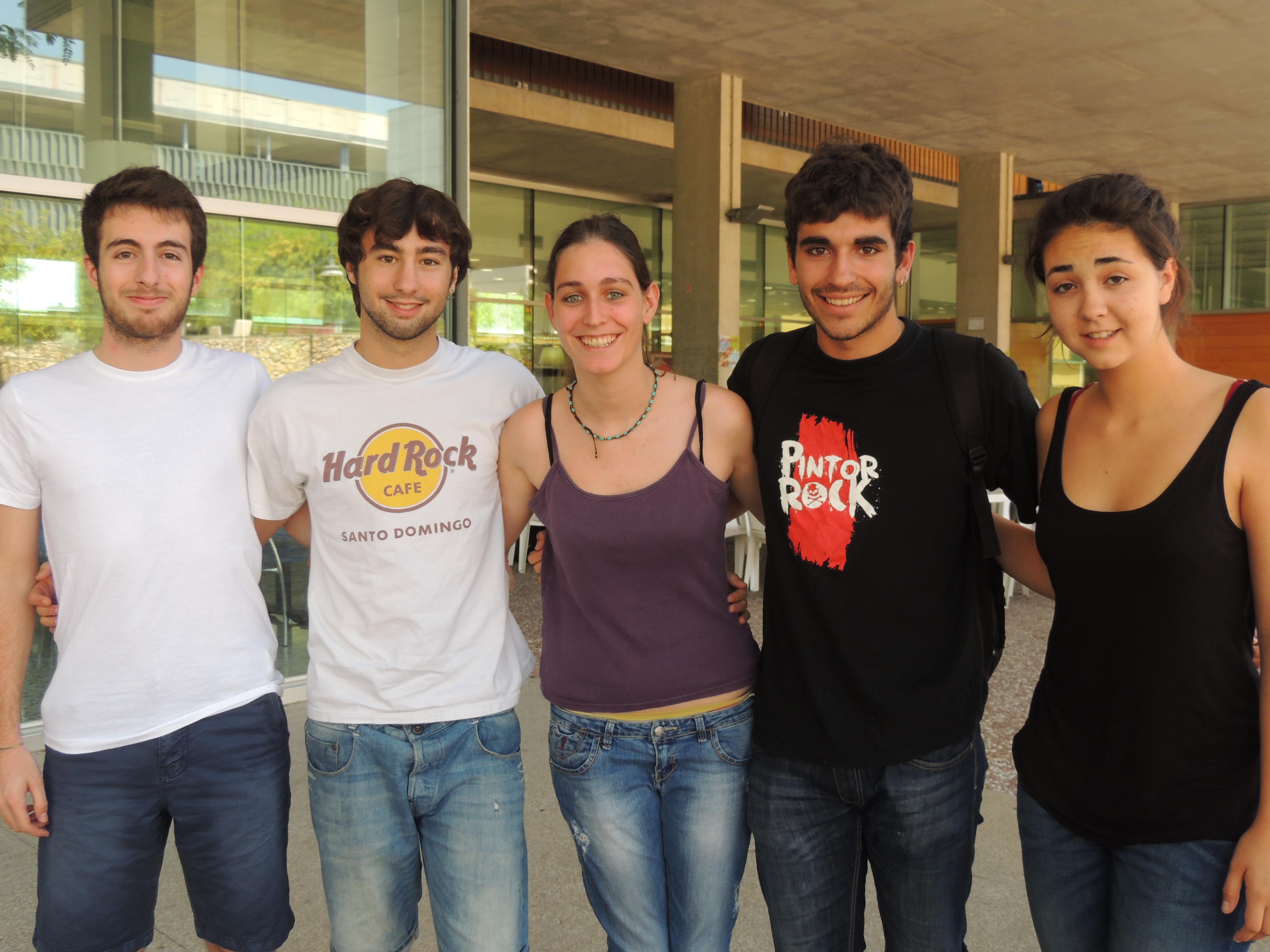 D'esquerra a dreta: Jordi Ballesteros, Guerau Guillen, Laura Ballesteros, Carlos Domènech i Maria Parreu.
