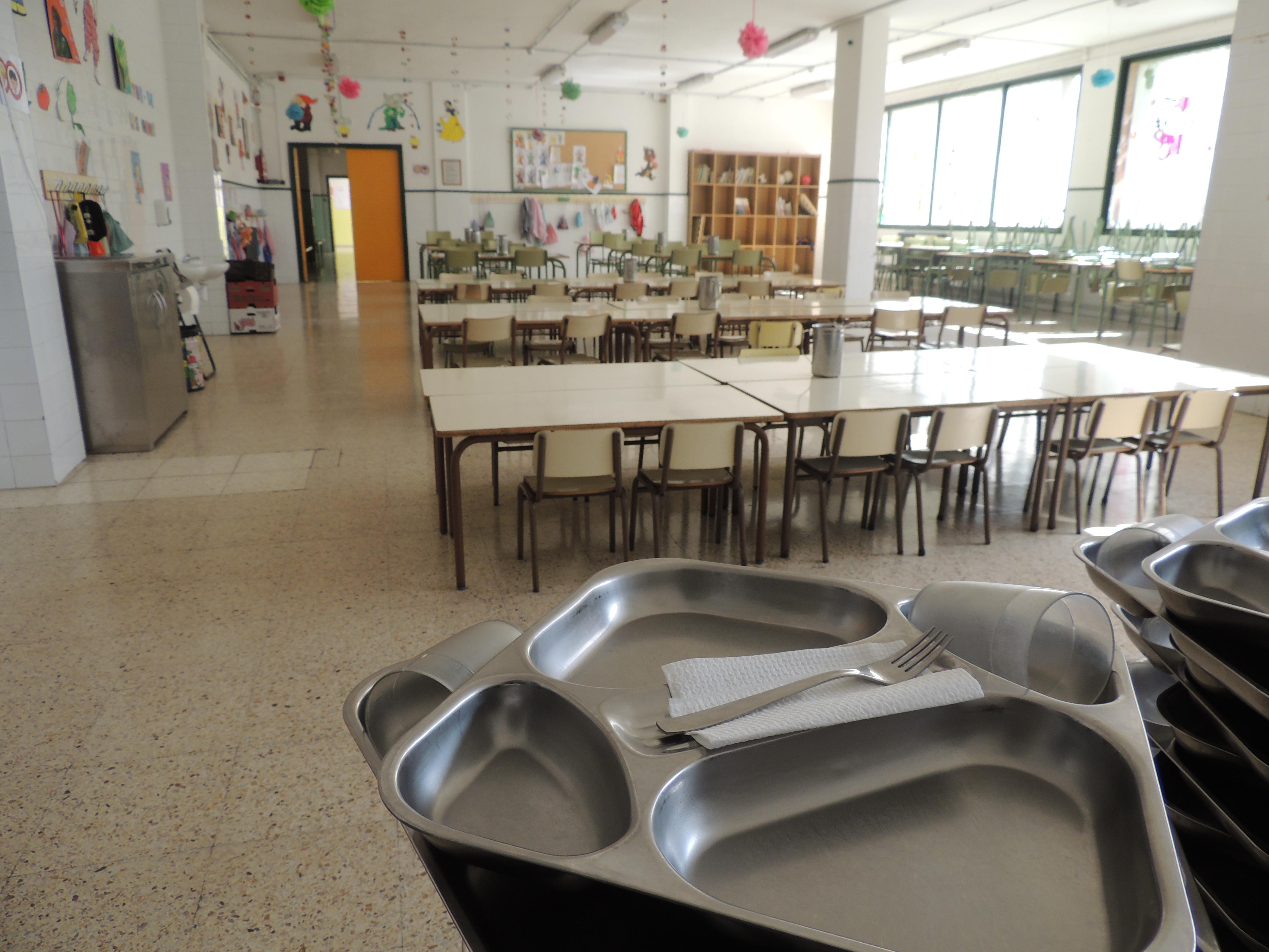 Imatge del menjador de l'escola.
