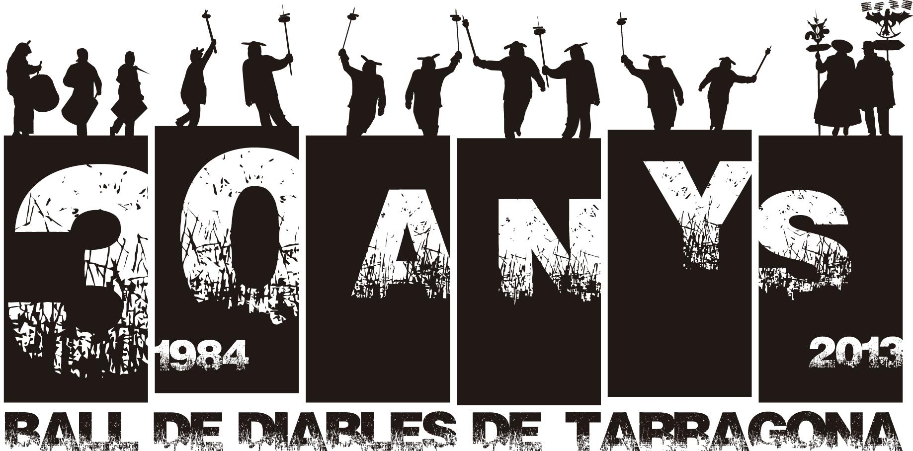 Logotip del 30è aniversari (Cedida: Ball de Diables de Tarragona).