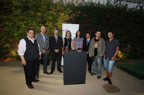 Els finalistes de les Petxines Oberta i Tancada de 2013 al jardí del Metropol abans de conéixer el resultat de les votacions (foto: Pere Toda)