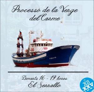 Muntatge fotogràfic dels Xiquets del Serrallo per anunciar el 3de6.