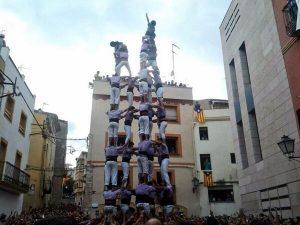 Nou de vuit completat per la Jove de Tarragona a El Catllar (foto: Colla Jove)