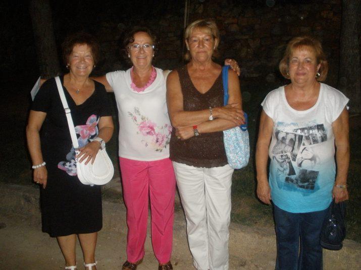 Merche, Maria José, Loli i Ana Mari, les quatre seguidores del Dúo Dinámico que els van veure en concert l'any 1962 i aquest dissabte passat al Camp de Mart