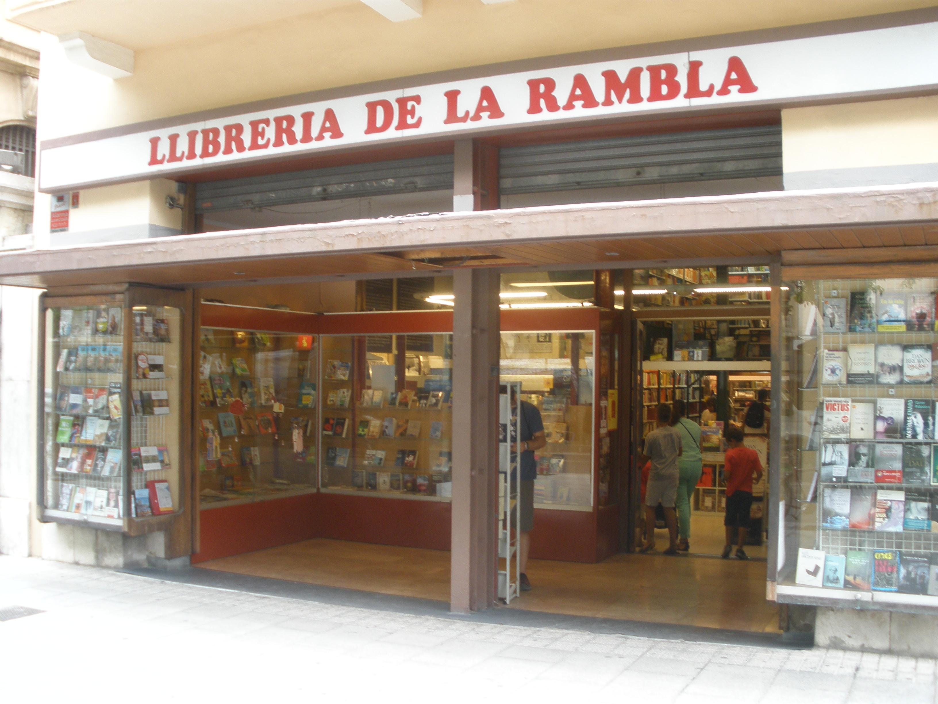 Façana de la Llibreria de la Rambla.