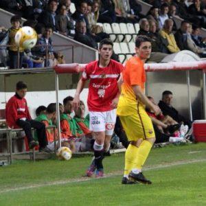Jordi Calavera en el partit de Copa Catalunya davant del Barça B. Foto:Nàstic
