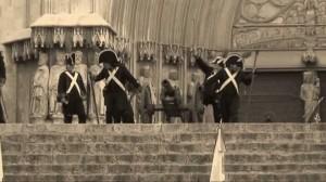 Imatge de la recreació del setge que es va realitzar al pla de la Seu el juny de 2011
