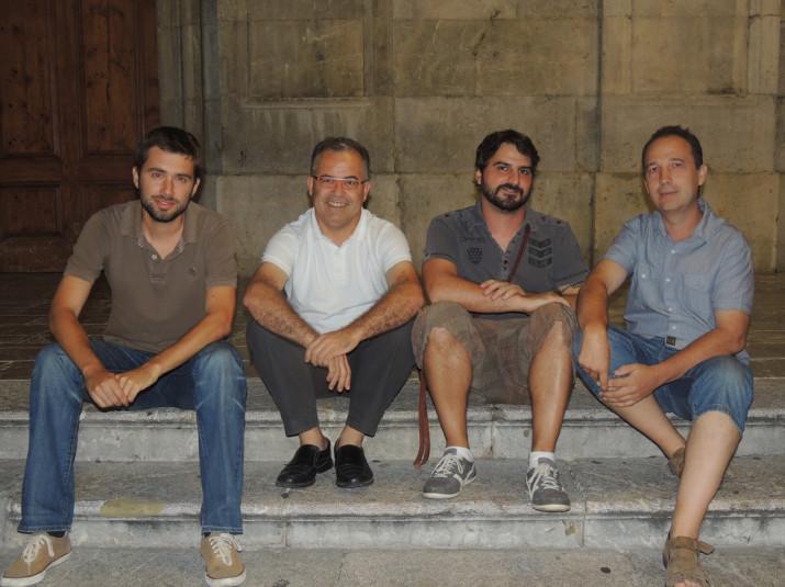 D'esquerra a dreta: Manel Sanromà, Jordi Bertran, Dídac Francisco i Quico Méndez.