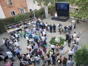 Recepció de Repsol al jardí de Casa Canals al món de la cultura popular i tradicional de Tarragona (foto cedida per Repsol)