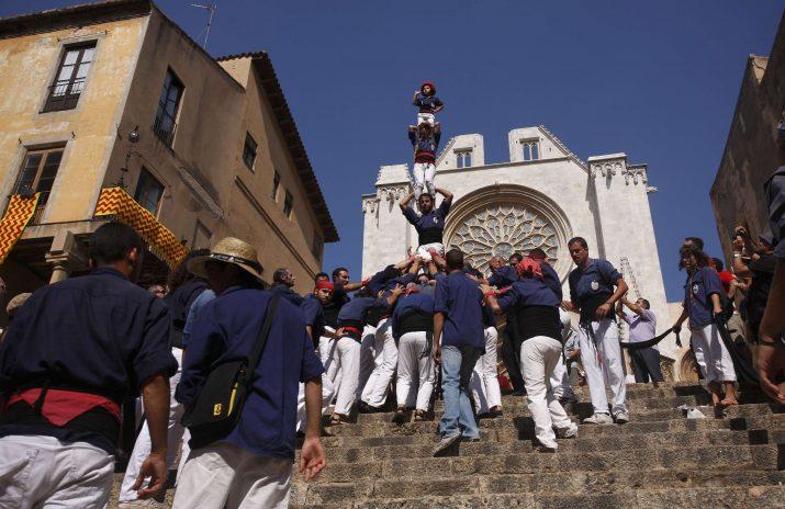 Foto del pilar dels Xiquets del Serrallo de l'any 2009. Montse Riera