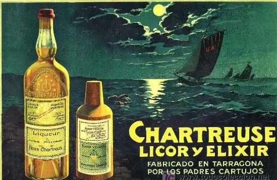 Anunci de 1972 del Chartreuse fet a Tarragona