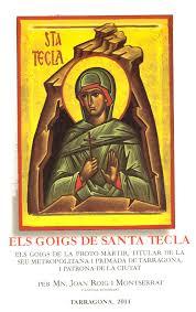 """Portada del llibre """"Els goigs de Santa Tecla"""" editat l'any 2011"""