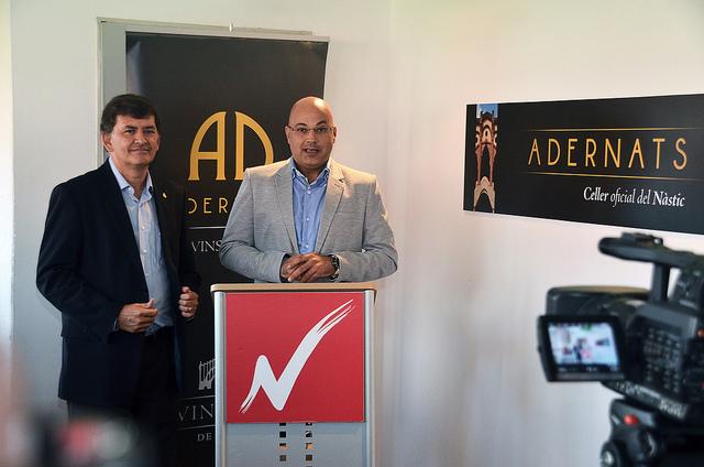 Josep M. Andreu i Joan Castellví presenten l'Espai Adernats (foto: Gimnàstic de Tarragona)
