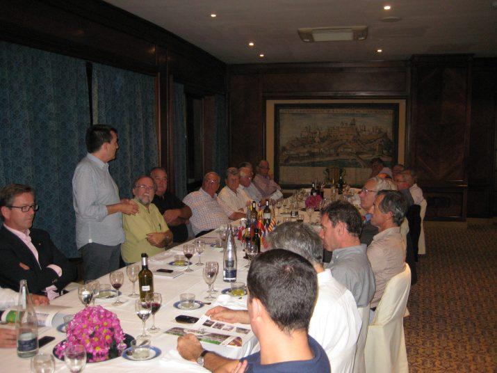 Sopar del Rotary Club Tarragona amb un convidat parlant de periodisme: Ricard Lahoz, director del FET a TARRAGONA (foto: Rotary Club)