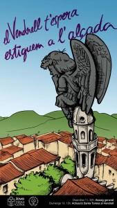 Cartell que ha preparat Edu Polo per motivar els castellers de la Colla Jove.