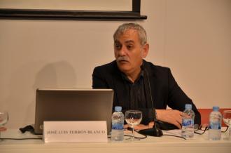 El professor José Luis Terrón, en un moment de la seva intervenció a la jornada (foto: Marc Rius)