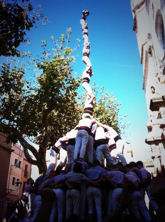 El primer pilar de vuit amb folre i manilles de la història de la Jove de Tarragona ha estat una de les grans fites de la temporada castellera