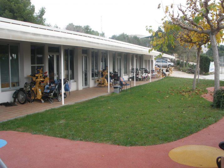 Imatge de les instal·lacions del Centre de Paràlisi Cerebral, a la Muntanyeta de Sant Pere i Sant Pau