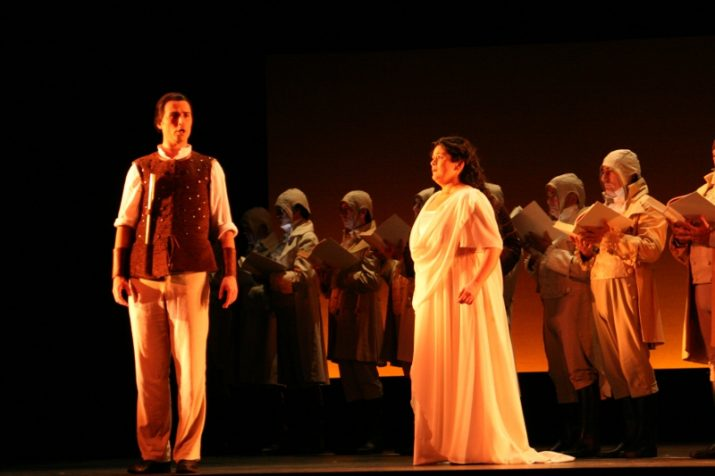 """Un moment de la representació de """"La flauta màgica"""" al Teatre La Faràndula, de Sabadell, a finals d'octubre (foto: Ràdio Sabadell)"""