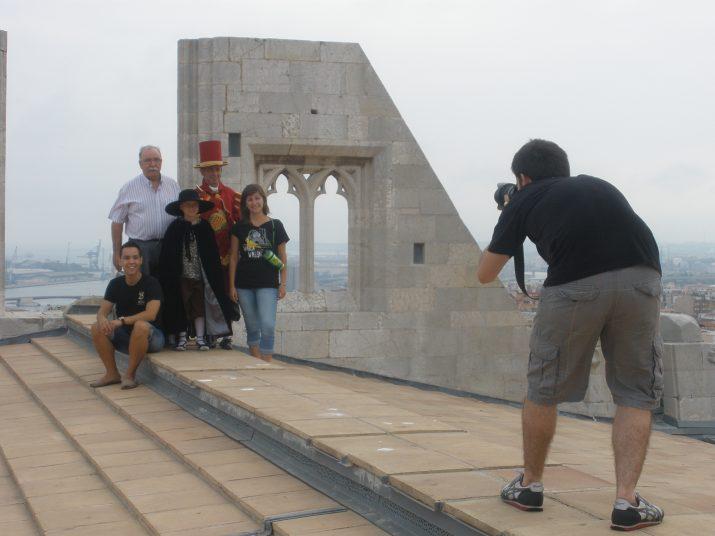 El digital i la revista FET a TARRAGONA aposten per la qualitat de continguts i fotografies. Imatge de la preparació de la fotografia de portada del primer número de la revista
