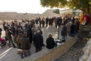 Acte d'homenatge a Géza Alföldy a l'Amfiteatre, l'1 de desembre de l'any passat (foto: José Carlos León)