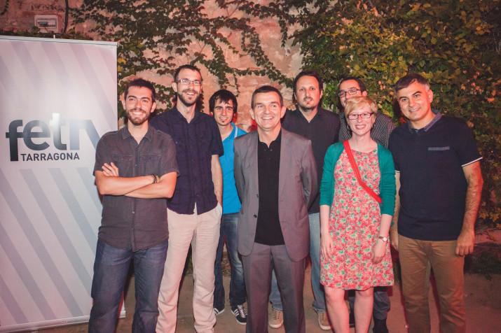 El Consell de Redacció del FET, a l'acte de presentació de la revista, el passat 9 de setembre, al Cafè Metropol.