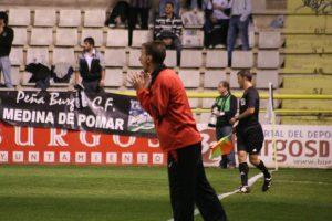 Santi Castillejo a l'estadi del Plantio on el Nàstic es va classificar per jugars els setzens de la Copa eliminant al Burgos. Foto: Nàstic