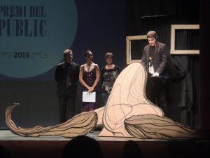 El director del festival, Xavier García Puerto, va recollir el premi del públic en nom del director Matteo Oleotto.