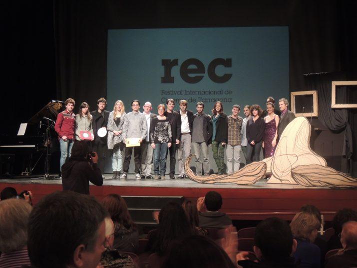 Imatge dels protagonistes de la gala de cloenda del Festival REC.