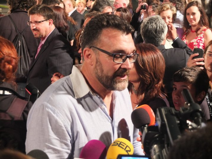 """Jesús Monllaó el dia de l'estrena de la pel·lícula """"Fill de Caín"""" al Teatre Tarragona (foto: Enric Garcia)"""