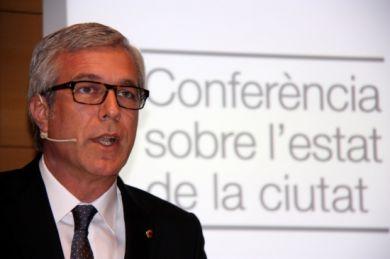 L'alcalde de Tarragona en la conferència sobre l'estat de la ciutat d'aquest dimecres (foto: Mauri Fernández - Ajuntament)