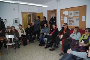 Un cop finalitzada la visita a l'alberg, s'hi va fer un col·loqui amb tots els assistents.