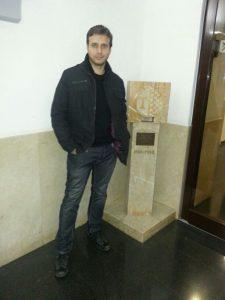 Josep Barceló a l'hospital de Santa Tecla