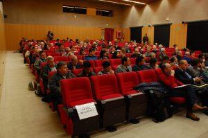Aspecte de la sala d'actes de l'Antiga Audiència en la presentació del número 4 de la revista FET (foto: Josep Ardila)