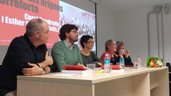 Presentació del llibre sobre les dones de Torreforta amb Jordi Piqué, Javier Villamayor, Dolors Comas, Coral Cuadrada i Esther Rodríguez