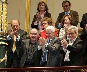 Pujol, Bargalló, Maragall, Saura, Tura i altres representants del Parlament el 2 de novembre de 2005 al Congrés dels Diputats