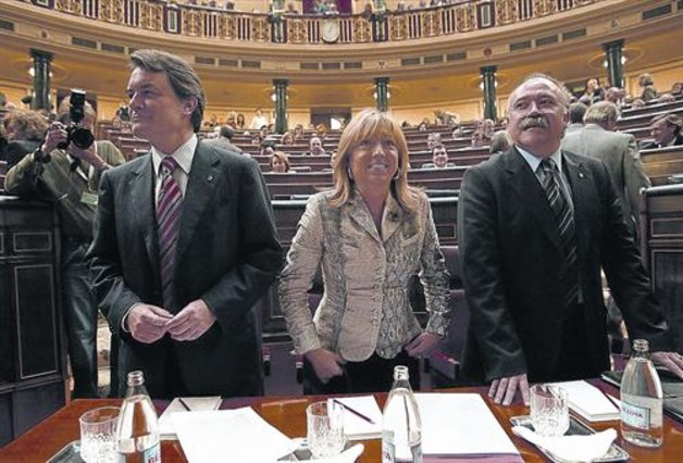 El precedent de la sessió d'ahir al Congrés dels Diputats: el debat sobre l'Estatut del 2005 que van defensar Artur Mas (CiU), Manuela de Madre (PSC) i Josep Lluís Carod-Rovira (ERC)