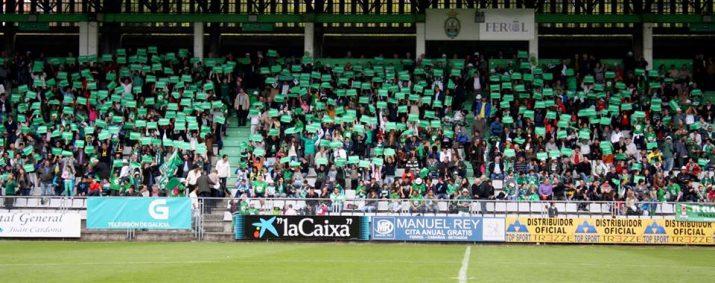 Estadi d'A Malata, ambient que es trobarà el Nàstic. Foto:Diario de Ferrol