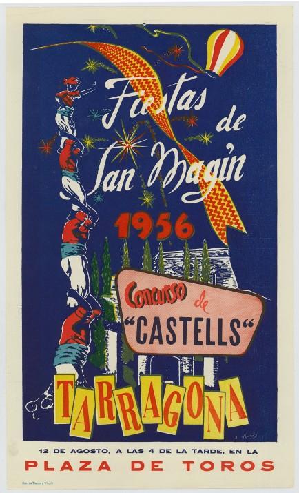 Cartell-Concurs-de-Castells_1956-baix