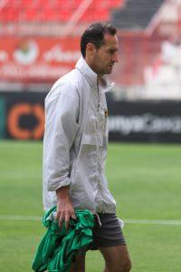 Vicente Moreno a l'entrenament del Nàstic.  Foto: Olivia Mulet