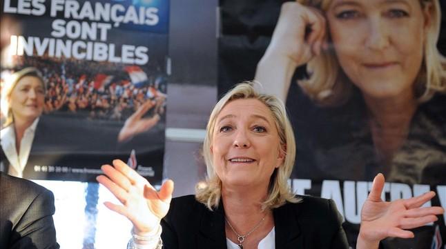 Marine Le Pen, líder del Front Nacional, partit guanyador de les eleccions europees a França (foto: elperiodico.cat)