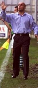 Luis César en la seva etapa a la banqueta del Racing de Ferrol. Foto:historiaracinguista