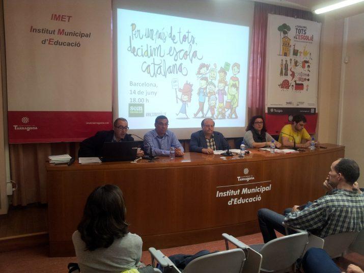 Taula rodona organitzada per Somescola a Tarragona el passat 29 de maig (foto: APELLC)